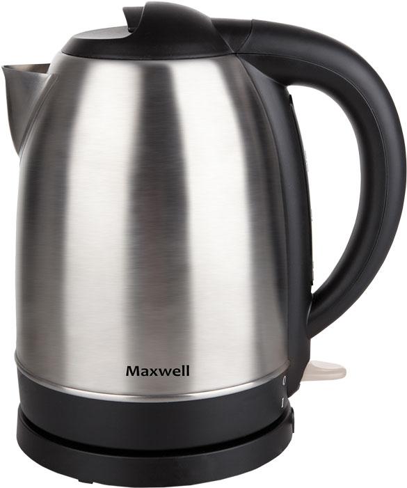 Maxwell MW-1049(ST) электрический чайникMW-1049(ST)Стильный чайник MAXWELL MW-1049 ST обязательно оценят любители стиля hi-tech благодаря его лаконичному дизайну и корпусу из нержавеющей стали. Одновременно со стильным дизайном корпус из такого материала обладает способностью сохранять полезные свойства воды и ее изначальный вкус. Благодаря мощности 2200 Вт вы вскипятите воду в считанные минуты, а объем 1,7 л позволит напоить горячими напитками всю семью. Шкала уровня воды подскажет, сколько жидкости в чайнике. Удобство работы обеспечивает удобный хват ручки, а также кнопка для открытия крышки, расположенная на самой крышке. А экономить пространство позволит специальный отсек для хранения шнура.