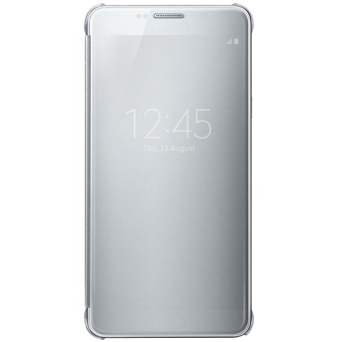 Samsung EF-ZN920 Clear View чехол для Galaxy Note 5, SilverEF-ZN920CSEGRUЧехол Samsung ClearView для Galaxy Note 5 идеально сочетается со стильным глянцевым корпусом смартфона. Он обеспечивает доступ к необходимой информации на экране гаджета. Вы можете принимать или отклонять звонки, смотреть время и дату и получать различные сообщения даже когда чехол закрыт. Флип откидывается влево. Samsung ClearView обеспечивает надежную и долговременную защиту вашего Galaxy Note 5 от царапин, ударов и грязи.