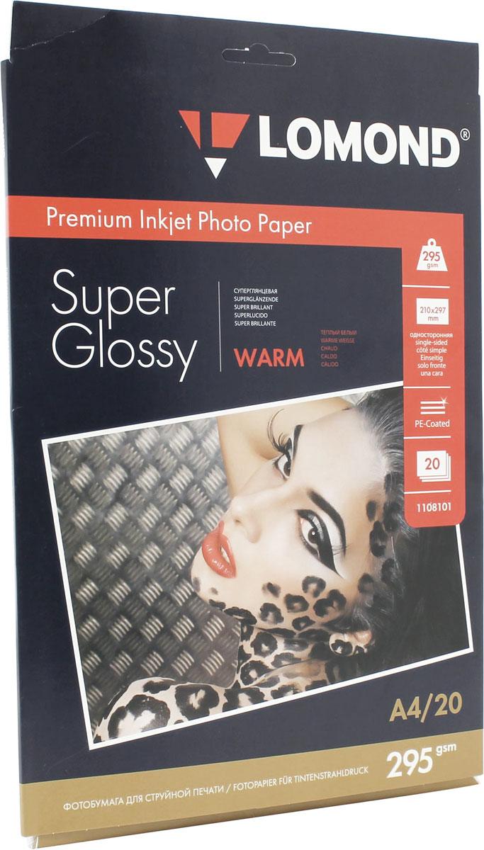 Lomond Super Glossy Warm 295/A4/20л суперглянцевая тепло-белая1108101Суперглянцевая микропористая фотобумага Lomond для струйной печати. Микропористое покрытие обеспечивает столь же высокое качество печати, как и традиционная фотография. Себестоимость отпечатков на бумаге Lomond Premium Photo c использованием картриджей Lomond - ниже, чем стоимость отпечатков, получаемых по традиционной технологии с использованием химических реактивов. Благодаря полиэстеровому покрытию бумажной основы бумага Lomond Premium Photo совершенно не подвержена короблению после прохода через принтер даже при самой интенсивной заливке чернилами. Модификация Super Glossy по фактуре поверхности наиболее близка к традиционной химической фотобумаге. Отпечатки отличаются высоким глянцем.