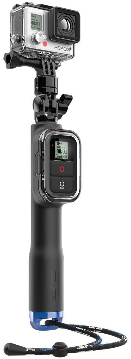 SP-Gadgets Remote Pole 23 для GoPro, Black монопод53020Простой в использовании, телескопический монопод SP-Gadgets Remote Pole 23 для GoPro с креплением для пульта может быть раздвинут и закреплен с помощью поворотного замка на длину от 276 до 582 мм. Устройство подходит для камер GoPro HERO3, HERO3+, HERO4. Очень удобный и компактный вариант с креплением для пульта ДУ Wi-Fi станет не заменимым спутником во время любых экшн-съемок. Установите пульт в специальный разъем и получите полный контроль над своей GoPro.