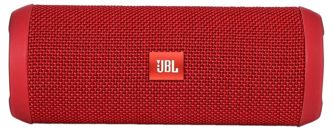 JBL Flip 3, Red портативная акустическая система6925281904363Портативная акустическая система, 2*5 Вт, Li-ion батарея, 8 часов работы от батареи, встроенный басовый порт, Bluetooth, NFC, прорезиненные торцы и элементы c защитой от брызг, технология шумоподавления Sound clear, улучшенный микрофон и функция ответа на звонки, компатный дизайн, чехол в комплекте, цвет красный