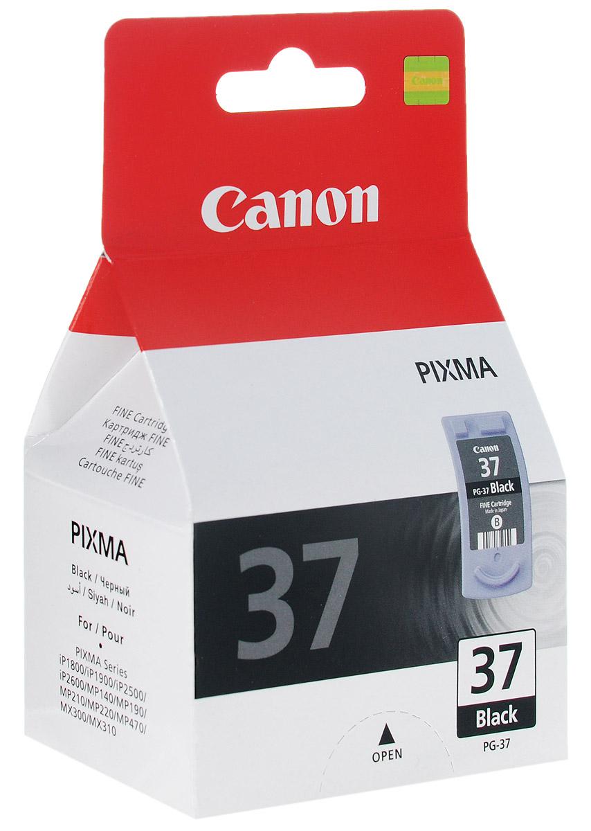 Canon PG-37BK, Black картридж для струйных МФУ/принтеров2145B005Canon PG-37 - картридж, созданный по технологии Fine, с чёрными чернилами.