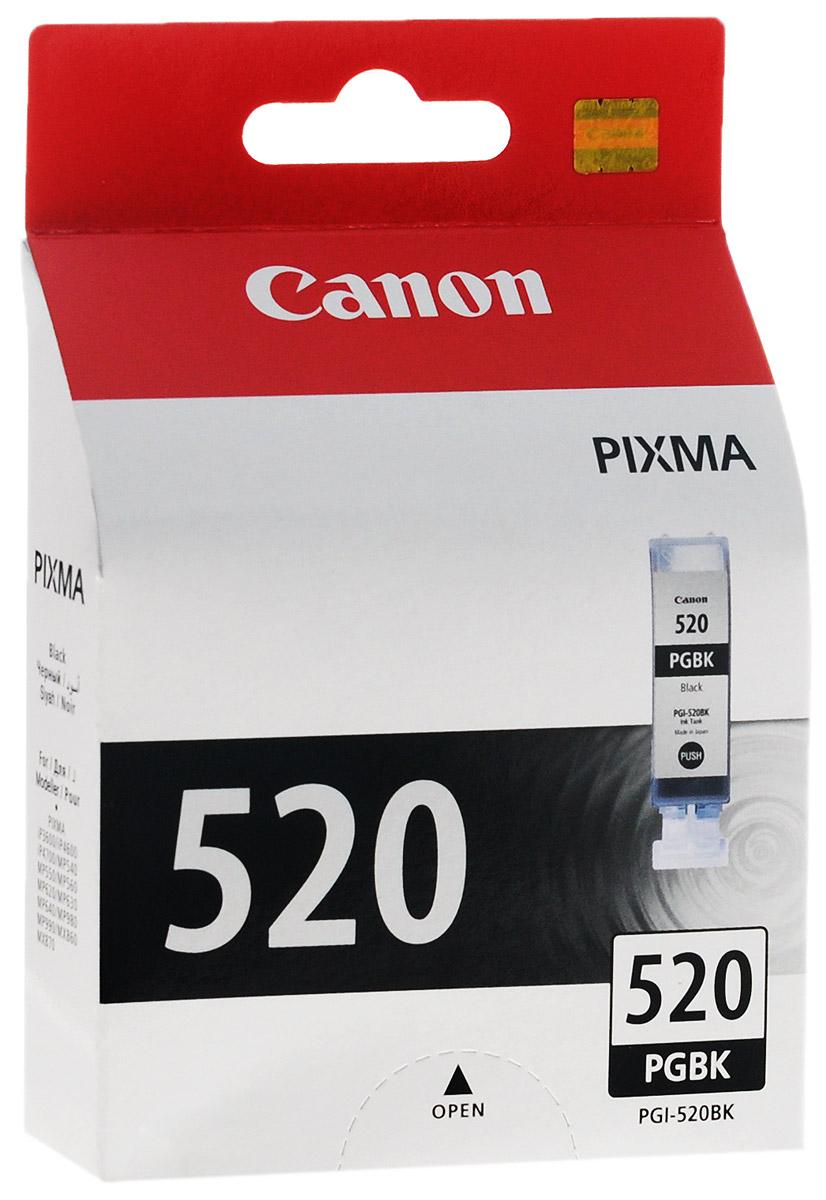 Canon PGI-520BK, Black картридж для струйных МФУ/принтеров2932B004Картридж Canon PGI-520BK с черными чернилами для принтеров Canon. Тип чернил: пигментные Емкость: 19 мл