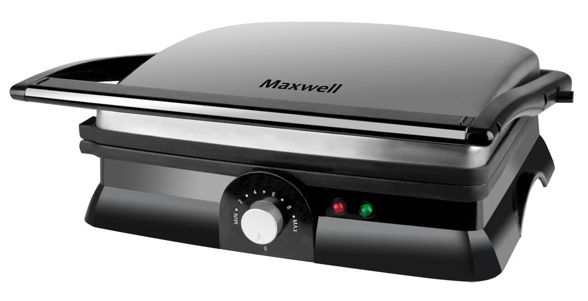 Maxwell MW-1960 ST гриль-прессMW-1960(ST)Поджарить мясо или овощи на гриле в домашних условиях намного проще с гриль-прессом MAXWELL MW-1960 ST. Устройство оснащено двумя мощными нагревательными элементами, которые способствуют быстрому поджариванию продуктов одновременно с двух сторон. В зависимости от желаемого результата вы можете установить нужную температуру нагрева верхней и нижней пластины. Продукты не пригорают к внутренним поверхностям за счет антипригарного покрытия, а весь излишний жир стекает в специальные желобки, что позволяет без труда получить вкусное и полезное блюдо без использования масла!