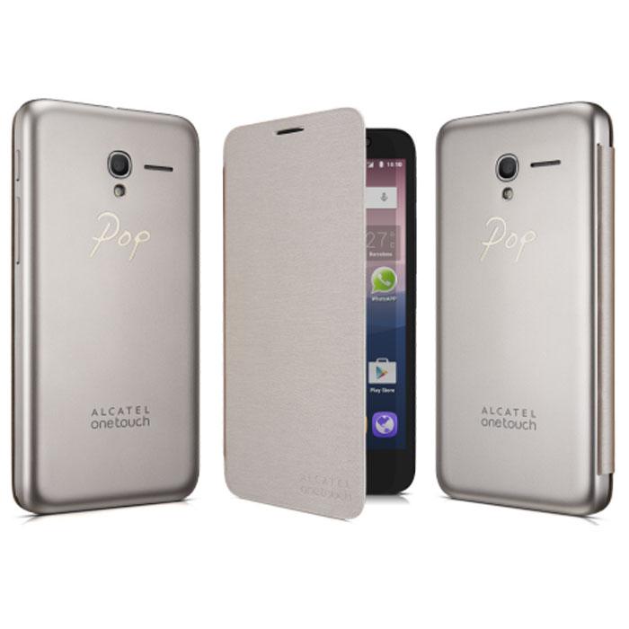 Alcatel чехол для OT-5025 Pop 3, Soft GoldFC5025Чехол-книжка Alcatel для OT-5025 Pop 3 с задней крышкой не увеличивает размеры аппарата и служит для надежной защиты смартфона от механических повреждений. Крепится вместо задней крышки смартфона.