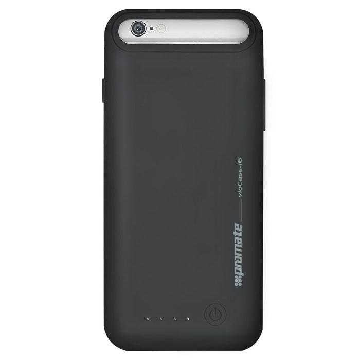 Promate vioCase-i6, Black аккумулятор-чехол для iPhone 600008396Promate vioCase станет для вас не заменимым помощником. С ним емкость и рабочее время вашего iPhone 6 увеличится как минимум в двое, что поможет вам всегда оставаться на связи и чувствовать себя уверенно. Чехол- аккумулятор изготовлен с учетом всех технологических портов и клавиш управления вашего смартфона и не помешает не одной из функций предусмотренных заводом изготовителем. Он изящный и технологичный, удобный и не заменимый.