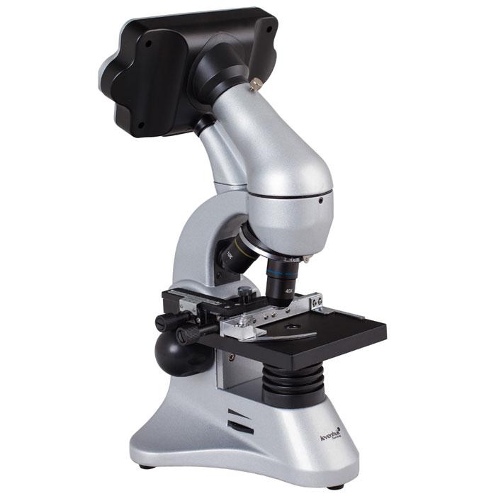 Levenhuk D70L Digital микроскоп14899Цифровой биологический микроскоп Levenhuk D70L предназначен для изучения прозрачных микропрепаратов и исследования непрозрачных предметов по методу светлого поля. Он отлично подойдет для обучения школьников и студентов – изображение не нужно рассматривать в окуляре, оно в режиме реального времени выводится на ЖК-монитор. Качественная оптика обеспечивает яркое и контрастное изображение. С помощью такого микроскопа можно быстро и продуктивно проводить практические и лабораторные работы по биологии, ботанике и другим наукам, требующим микроскопических исследований. Высокое качество изображения обеспечивается использованием только стеклянных оптических элементов, на которые нанесено многослойное просветляющее покрытие. Это позволяет обеспечить максимальную яркость, контрастность изображения и отсутствие искажений по всему полю зрения. Микроскоп позволяет получать оптическое увеличение в диапазоне от 40 до 400 крат, а цифровой зум позволяет получать увеличение до...