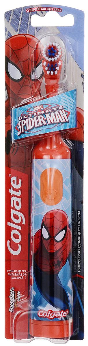 """Colgate Зубная щетка """"Spider-Man"""", электрическая, с мягкой щетиной, цвет: оранжевый FCN10038_оранжевый"""