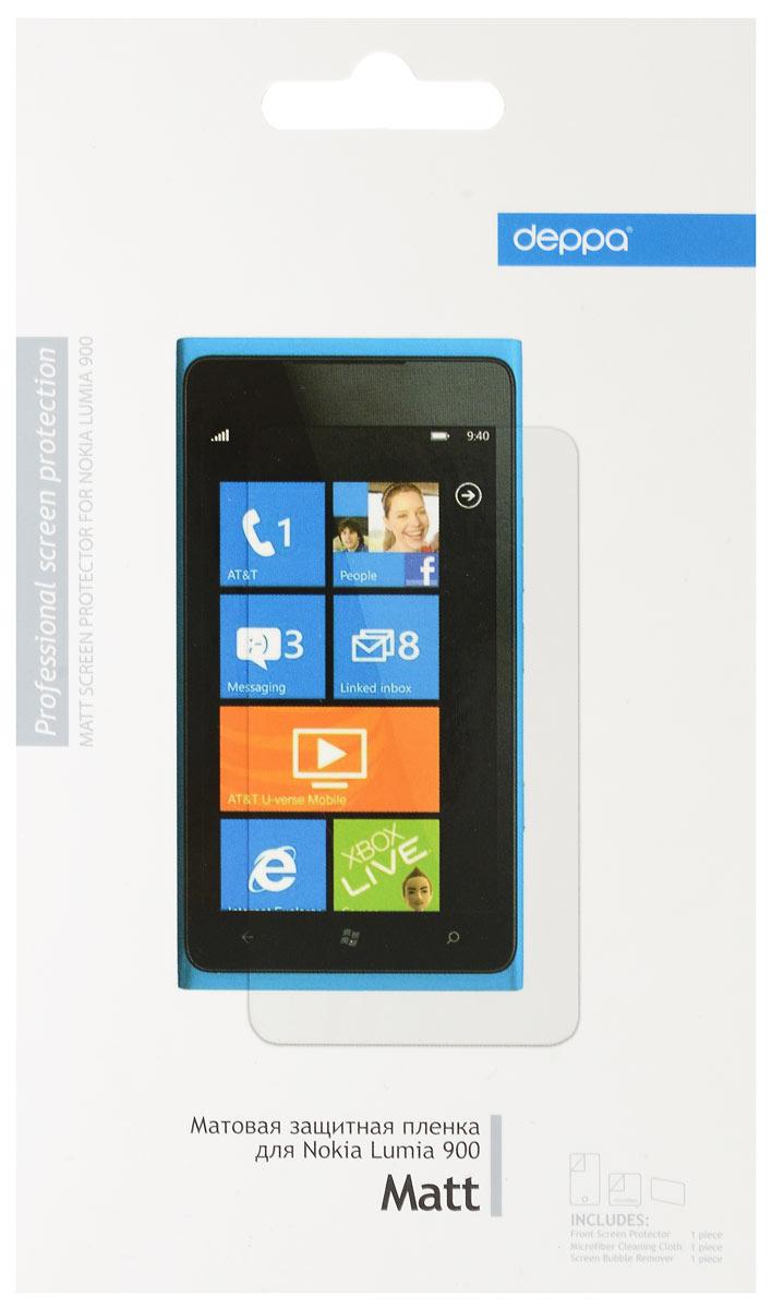 Deppa защитная пленка для Nokia Lumia 900, матовая61014Защитная пленка Deppa надежно защитит экран вашего мобильного устройства от царапин. Пленка изготовлена из трехслойного японского материала PET.