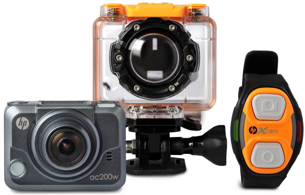 HP ac200w экшн-камера2671001221Экшн-камера HP ac200 предназначена для активного отдыха и спорта. Водонепроницаемый бокс позволяет закрепить ее на руль велосипеда или мотоцикла, подводное снаряжение, оборудование для серфинга и любое другое. Камера HP ac200 производит широкоформатную запись с разрешением 1080p и углом обзора 170 градусов, а также с ее помощи вы сможете сделать великолепные фотографии в самых экстремальных условиях!
