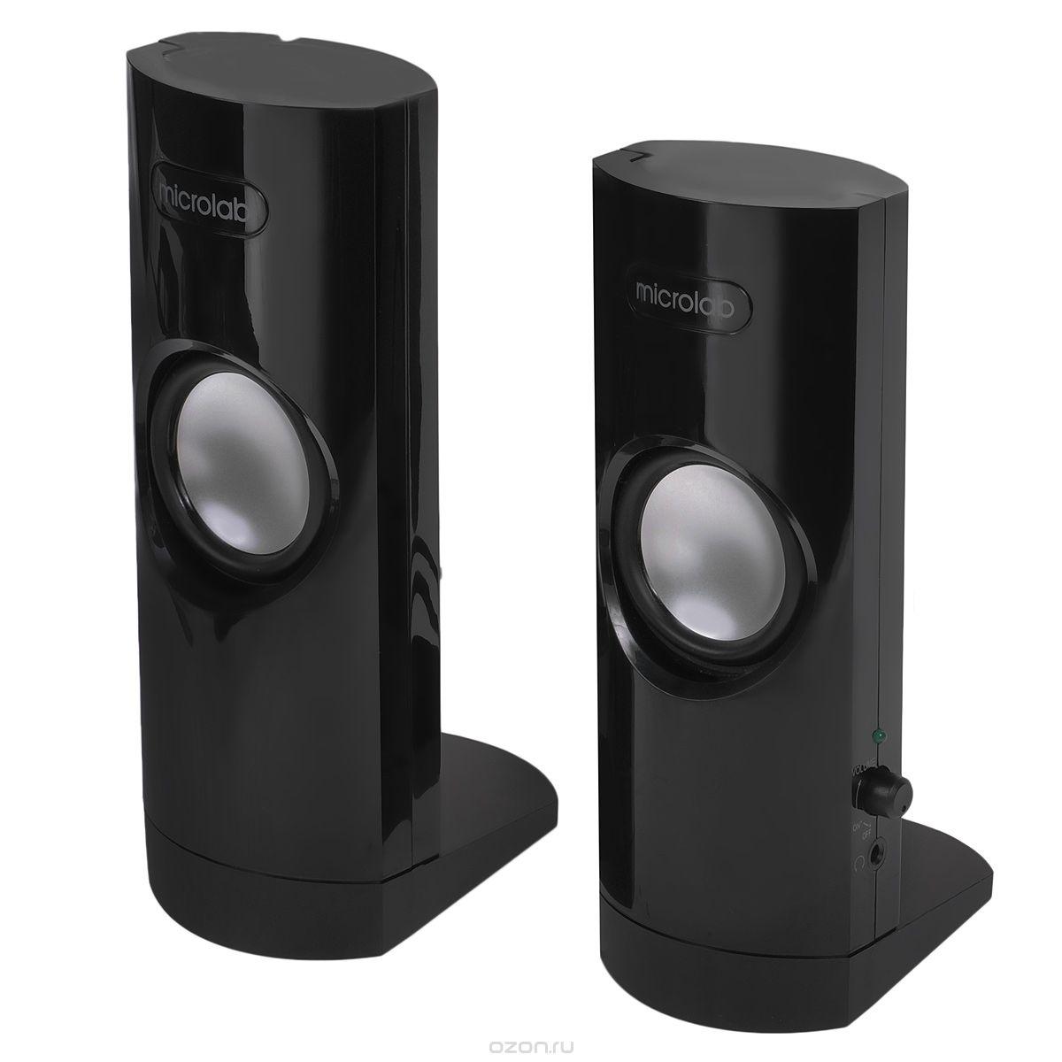 Microlab B18, Black акустическая системаB-18Компактная портативная и удобная акустическая система Широкополосный динамик создает превосходное и ровное звучание в средне- и высокочастотном диапазоне. Для Вашего удобства система может брать питание от USB.