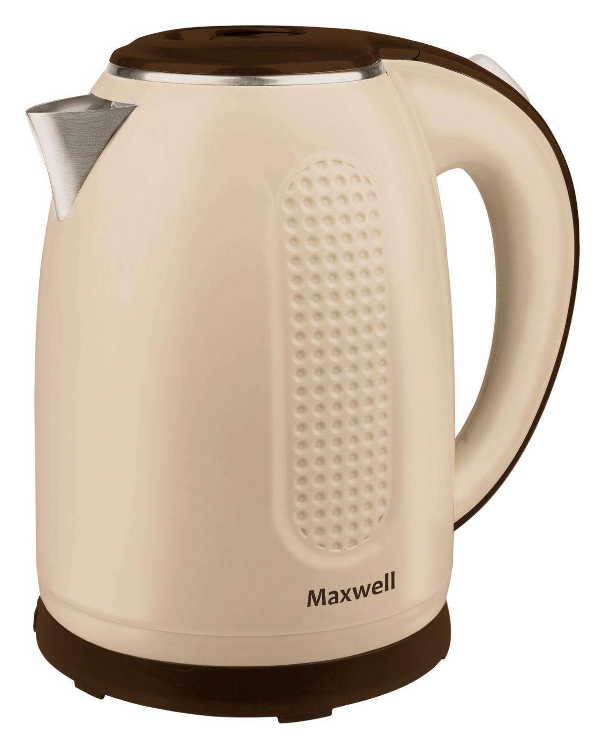 Maxwell MW-1042(BN) электрочайникMW-1042(BN)Безопасность, надежность, удобство и практичность – вот основные критерии, которые характерны для всех моделей чайников торговой марки Maxwell. Данная техника стала обязательным атрибутом современной кухни, позволяя быстро вскипятить воду для чашечки чая или кофе. Электрические чайники Maxwell отличаются своей эргономичностью и стильным дизайном, что позволяет их вписать в интерьер любого кухонного пространства.