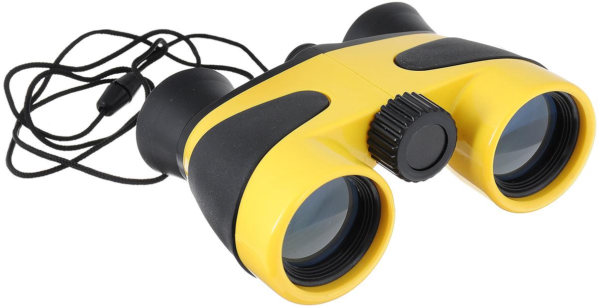 Бинокль детский Coghlans, цвет: желтый, черный, 4х30238Детский бинокль Coghlans - отличное развлечение для детей во время загородного отдыха и туристических поездок. Ваш ребенок будет рад иметь такой серьезный и взрослый прибор, как настоящий бинокль! Несмотря на веселый вид, это качественный полноценный инструмент с увеличением 4х30, корпус бинокля изготовлен из безопасного противоударного пластика. Бинокль имеет регулировки фокуса и расстояния между окулярами.