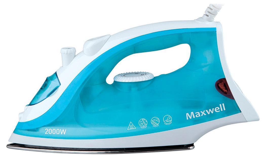 Maxwell MW-3046 утюгMW-30463046-MW(В) Утюг Maxwell Мощность 2000 Вт,подошва из нержавеющей стали,паровой удар