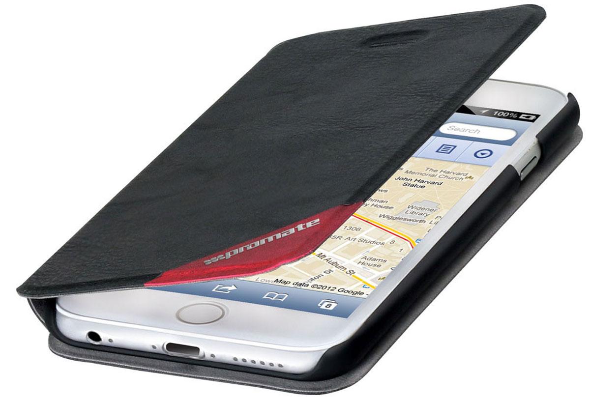 Promate Brace-i6P чехол для Apple iPhone 6 Plus, Black6959144012933Оденьте свой новый Apple iPhone 6 Plus в исключительный качеству, сделанный из кожи и термопластичного полиуретана чехол Promate Brace, и вы перестанете волноваться о сохранности ваших инвестиций! Гибкий, более долговечный, чем силикон, с отличной амортизацией и износостойкостью он выгодно отличается еще и тем, что очень тонкий.