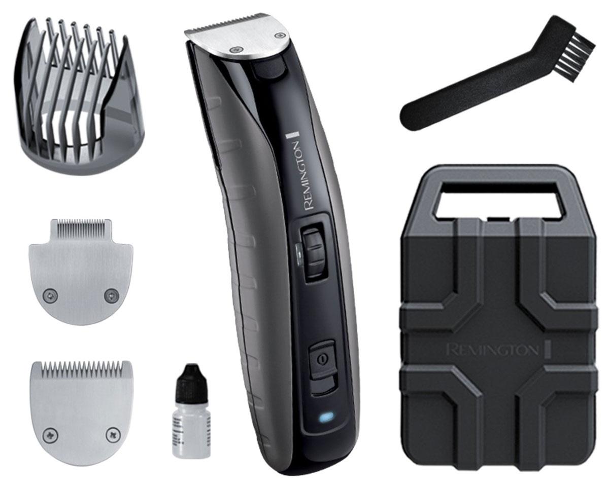 Remington MB4850 триммерMB4850Триммер для бороды MB4850 является самым мощным в коллекции Remington. Корпус устройства выполнен из прочного поликарбоната, который выдерживает удары и падения. Оснащенный литиевым аккумулятором, этот триммер для бороды отлично подойдет современному мужчине и гарантирует быстрый и эффективный результат. Благодаря детальному лезвию и лезвию для бороды, триммер Remington MB4850 обеспечивает безупречную точность стрижки. Этот прибор, оснащенный лезвиями с титановым покрытием, может подстригать волосы со скоростью 350 мм/с, что соответствует профессиональным характеристикам стрижки. Триммер работает до 120 минут в беспроводном режиме, а заряжается всего за 4 часа, что делает его использование более универсальным. Неважно, где вы захотите воспользоваться триммером для бороды Virtually Indestructible - вы будете уверены в превосходном результате. С помощью колесика вы сможете выбрать оптимальную длину регулируемой насадки от 1,5 мм до 18 мм, благодаря чему мы сможете...