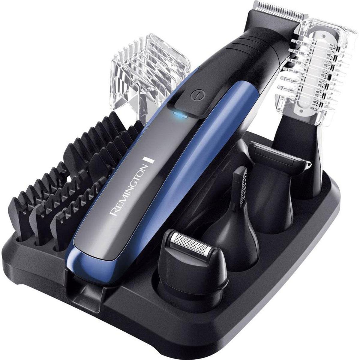 Remington PG6160 триммерPG6160Набор для ухода за волосами Remington PG6160 содержит все необходимые технологии и инновационные устройства, которые необходимы для полного создания образа и ухода за волосами для любого современного мужчины. Набор содержит пять насадок-головок - остается только выбрать, что вам нужно сегодня. Основной триммер с пятью насадки для разной длины (1.5, 3, 6, 9 и 12 мм), двусторонний вертикальный триммер для носа и ушей, сетчатая мини-бритва, детальный триммер и двусторонний триммер для тела. В дополнение ко всему, все насадки удобно хранить на компактной подставке. Ваш прибор всегда готов к использованию! Лучше, чем когда-либо - набор Remington PG6160 теперь обладает большими возможностями и гарантирует максимальную точность и качество стрижки. Полная зарядка за 4 часа Быстрая зарядка за 5 минут Полностью водостойкий