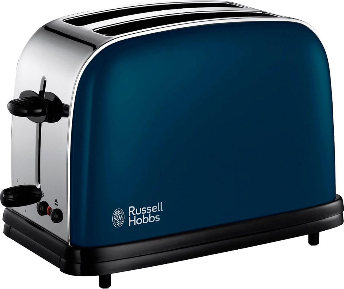 Russell Hobbs 18958-56 тостер18958-56Тостер Russell Hobbs 18958-56 выполнен в современном дизайне, что добавит стиля и изысканности как современному, так и традиционному кухонному интерьеру. Его широкие слоты с легкостью поджарят ломтики различной толщины в зависимости от ваших предпочтений: простой хлеб, багеты или булочки. Тостер Russell Hobbs 18958-56 обладает функциями разморозки и отмены текущей программы приготовления. Входящая в комплект решетка для разогрева поможет подогреть булочки или круассаны. Съемный поддон для крошек сделает процесс приготовления аккуратным и без лишних крошек на рабочей поверхности.