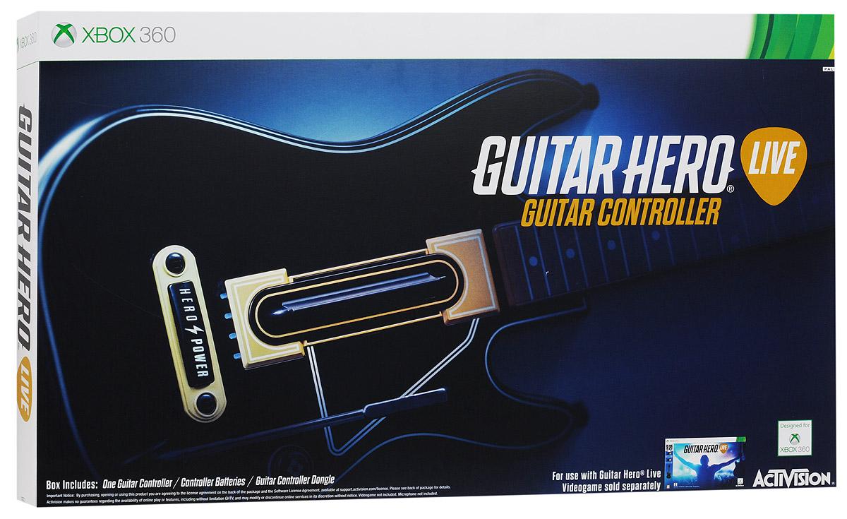 Guitar Hero Live Controller Xbox 360. ГитараCBG 910Игровой контроллер-гитара Guitar Hero Live Controller полностью отражает новый стиль и реалистичность игры Guitar Hero Live. На грифе гитары расположено два ряда по 3 кнопки в каждом, что обеспечивает расширенные возможности при воспроизведении аккордов. Также предусмотрено три уровня использования возможностей контроллера: для начинающих, обычных и опытных игроков. Классическая форма гитары поможет вам показать свой талант во время игры! Если вы новичок, тогда можете использовать во время игры только три кнопки! Вы мастер Guitar Hero - тогда игра предоставит серьезные испытания для ваших пальцев! Кнопка GHTV (игровая музыкальная видеосеть) позволяет перейти прямо в GHTV из любой игры. Играя в режиме GH Live, игрок будет выступать на сцене и видеть толпу зрителей от первого лица, в зависимости от мастерства исполнения, купаться в аплодисментах или видеть их недовольство Вы можете играть под сотни музыкальных видеоклипов из обширной библиотеки GHTV или...