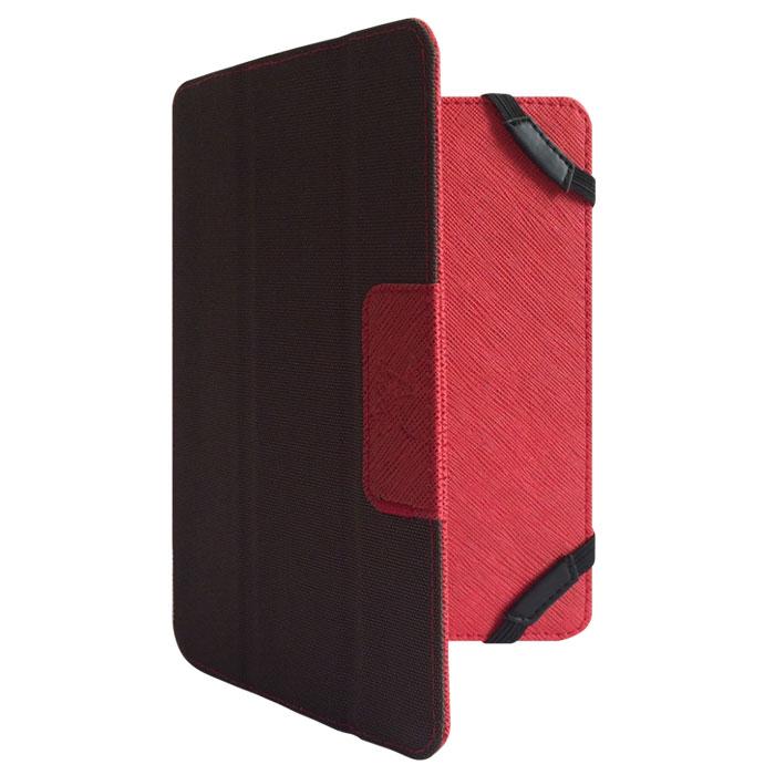 Snoogy DoubleSide SN-DS-U6 чехол для планшета 6, Red BrownSN-DS-U6-red/brnУниверсальный двусторонний чехол Snoogy DoubleSide SN-DS-U6 для планшетов с диагональю экрана 6. Чехол придуман и изготовлен полностью в России из качественной ПУ-кожи и ткани оксфорд. Держатель устройства - перекидные резинки, которые крепко фиксируют планшет. Ко всем элементам планшета имеется свободный доступ. Передняя крышка служит подставкой для альбомной ориентации планшета. Упаковка для чехла представляет собой самостоятельный продукт - она выполнена в качестве косметички и может использоваться для хранения и перевозки полезных мелочей.