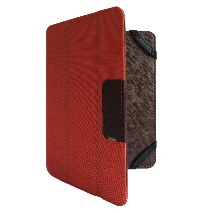Snoogy DoubleSide SN-DS-U7 чехол для планшета 7, Brown OrangeSN-DS-U7-brn/ornУниверсальный двусторонний чехол Snoogy DoubleSide SN-DS-U7 для планшетов с диагональю экрана 7. Чехол придуман и изготовлен полностью в России из качественной ПУ-кожи и ткани оксфорд. Держатель устройства - перекидные резинки, которые крепко фиксируют планшет. Ко всем элементам планшета имеется свободный доступ. Передняя крышка служит подставкой для альбомной ориентации планшета. Упаковка для чехла представляет собой самостоятельный продукт - она выполнена в качестве косметички и может использоваться для хранения и перевозки полезных мелочей.