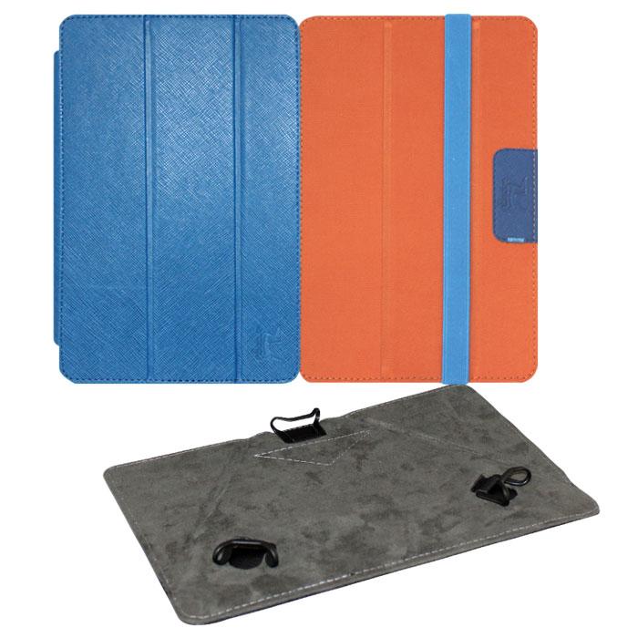 Snoogy Twin SN-TW-U7 чехол для планшета 7, Blue OrangeSN-TW-U7-blu/ornУниверсальный чехол Snoogy Twin SN-TW-U7 для планшетов с диагональю экрана 7 со сменными лицевыми крышками. Меняйте лицевую панель по вашему настроению! Чехол придуман и изготовлен полностью в России из качественной ПУ-кожи и ткани с водоотталкивающим эффектом. Держатель устройства - эстетичные тонкие и надежные пластиковые уголки, которые крепко фиксируют планшет. Ко всем элементам планшета имеется свободный доступ. Предусмотрены отгибающиеся уголки на задней крышке для легкого доступа к задней камере устройства. Передняя крышка служит подставкой для альбомной ориентации планшета. Упаковка для чехла представляет собой самостоятельный продукт - она выполнена в качестве косметички и может использоваться для хранения и перевозки полезных мелочей.