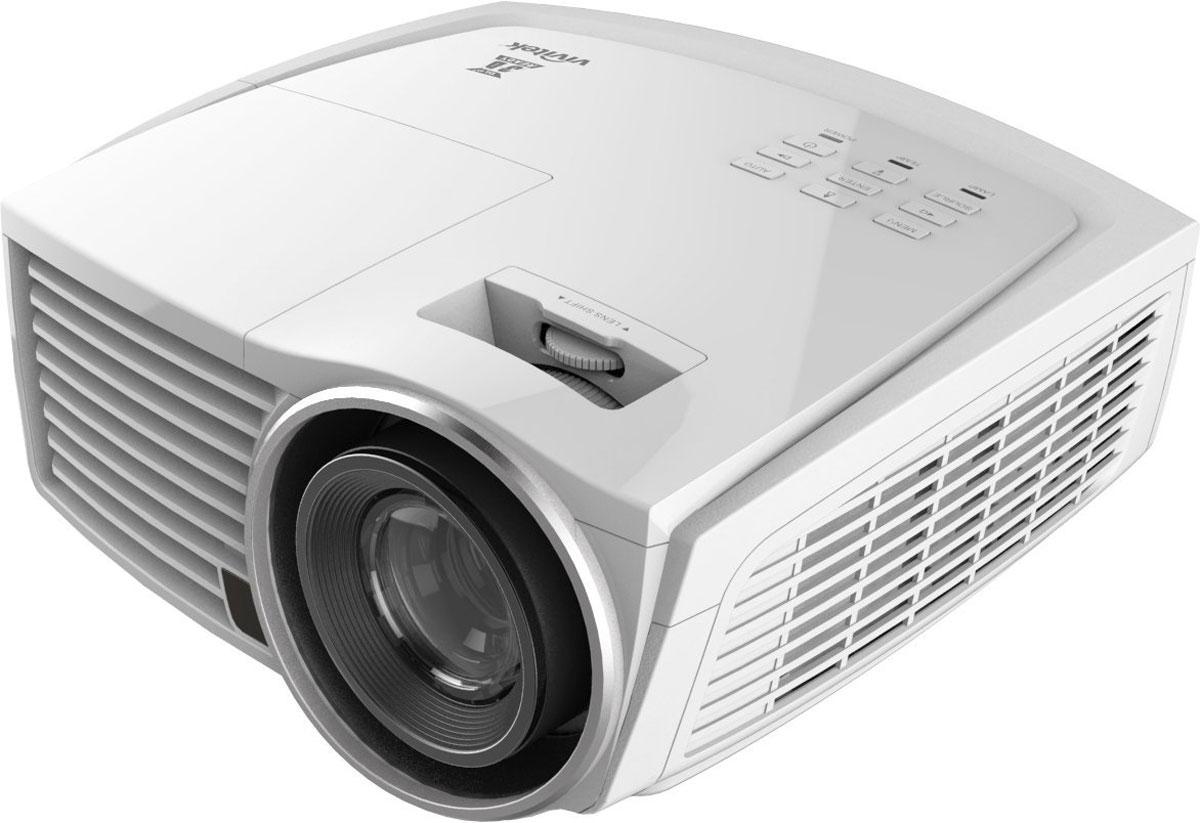 Vivitek H1186-WT кинотеатральный проектор21740Vivitek H1186-WT - это сочетание высокого разрешения Full HD 1080p, яркости 2,000 ANSI lm и высокой контрастности 50,000:1. Благодаря возможности ISF-калибровки, как для светлого, так и темного времени суток, H1186 является прекрасным решением, позволяющим полностью насладиться видеоиграми или домашними развлечениями и погрузиться в мир кинематографа. Технологии Texas Instruments DLP DarkChip3 и BrilliantColor обеспечивают яркие и сочные цвета, а также глубокий уровень черного и идеальную передачу теней в темных сценах. Возможность сдвига линз по вертикали облегчает расчет и установку проектора, как в специальном помещении для домашнего кинозала, так и обычной гостиной. Аудиотехнология SRS WOW обеспечивает чистый и насыщенный звук в сочетании с глубокими басами, кроме того, модель оснащена разнообразными интерфейсами, в том числе HDMI v1.4 и MHL, позволяющими подключить спутниковый ресивер, Blu-Ray плеер или игровую видеоприставку, а также VGA, S-Video,...