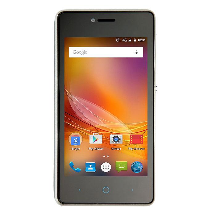 ZTE Blade AF5, BlackZTE BLADE AF5 BLACKZTE Blade AF5 - современный недорогой смартфон, который оснащен всеми коммуникационными возможностями. Пользователю доступны не только привычные модули Wi-Fi и Bluetooth, но также передатчик 3G, позволяющий устанавливать соединение на скорости до 10 Мбит/с. В смартфоне используется 5-мегапиксельная основная камера, которая способна работать даже в условиях слабой освещенности. Для создания селфи и осуществления видеозвонков имеется фронтальная камера на 2 Мпикс. Операционная система Android 4.4 KitKat, установленная в данной модели проста и удобна в повседневном использовании. Благодаря применению энергосберегающих технологий аккумулятора на 1400 мАч телефону достаточно для работы в течение 154 часов в режиме ожидания либо 15-20 часов при нормальном энергопотреблении. Телефон сертифицирован Ростест и имеет русифицированный интерфейс меню, а также Руководство пользователя.