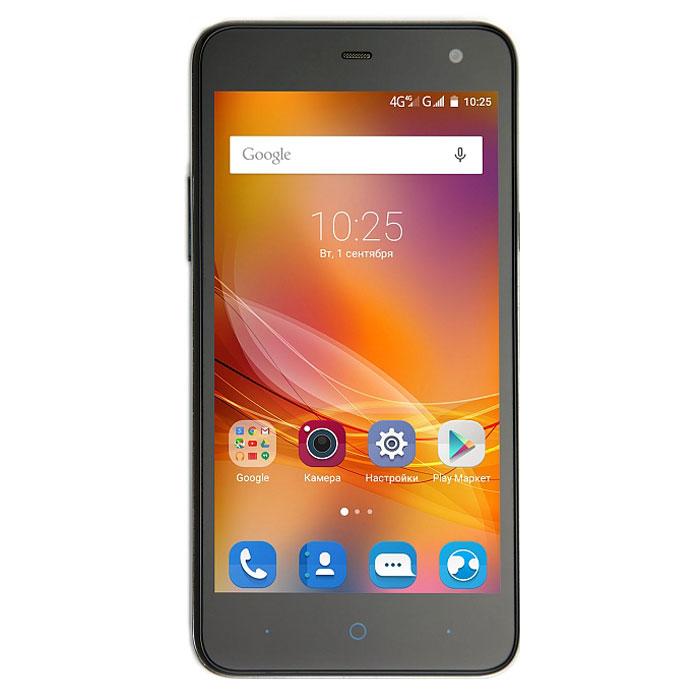 ZTE Blade L4 Pro, BlackZTE BLADE L4 PRO 4G BLACKZTE Blade L4 Pro - доступный и производительный смартфон в эргономичном корпусе на базе 64-битного четырёхъядерного процессора MediaTek MT6735P с частотой 1 ГГц и 1 ГБ оперативной памяти. Для хранения информации предусмотрено 8 ГБ встроенной памяти. Телефон оснащен качественным 5-дюймовым HD IPS-дисплеем с разрешением 1280 x 720 пикселей, а также двумя слотами для сим-карт и слотом для карт памяти microSD (до 32 ГБ). Емкость аккумулятора составляет 2200 мАч. ZTE Blade L4 Pro имеет основную камеру 8 мегапикселей со вспышкой и фронтальную на 5 мегапикселей для видеозвонков и селфи. Работает девай под управлением современной ОС Android 5.1. Телефон сертифицирован Ростест и имеет русифицированный интерфейс меню, а также Руководство пользователя.