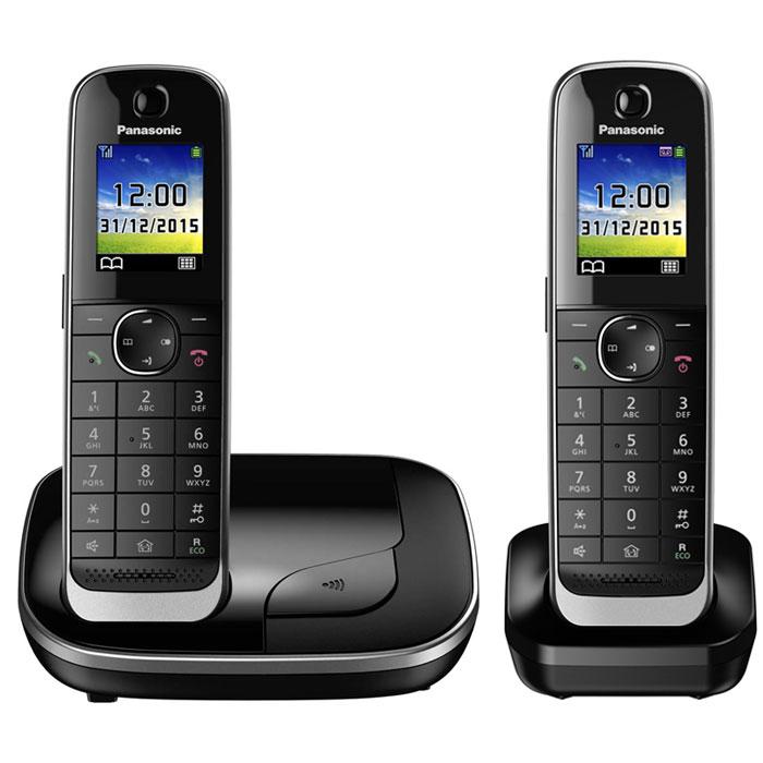 Panasonic KX-TGJ312RUB DECT-телефонKX-TGJ312RUBPanasonic KX-TGJ312RUB - цифровой беспроводной телефон c двумя трубками. Серебристая рамка и глянцевая поверхность корпуса придают устройству роскошный вид. Увеличенная емкость батареи обеспечивает максимальную продолжительность работы в режиме разговора в течение 15 часов, поэтому вы сможете говорить дольше. Кроме того, в режиме ожидания трубка может находиться вне базы без подзарядки в течение 10 дней. В случае отключения электричества питание базового блока осуществляется от аккумулятора трубки. Отсутствие электричества не сможет помешать вам сделать важные звонки. Вы можете заблокировать любой выбранный номер, а также любые последовательности чисел (от 2 до 8 цифр), совпадающие с номерами, внесенными в черный список. Канал связи между беспроводной трубкой и базовым блоком зашифрован, а ключ шифрования периодически меняется для поддержания высокого уровня безопасности. Беспроводная трубка передает информацию о звонящем с...