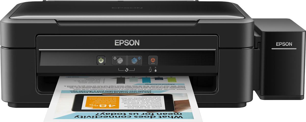 Epson L362 МФУC11CE55401Эксклюзивное устройство Epson L362 сочетает в себе принтер, сканер и копир в одном компактном корпусе, которое позволит вам выполнять все необходимые операции с документами и при этом экономить. Отличительной чертой данного устройства является высокая скорость печати, которая поможет вам значительно экономить время при печати больших объемов документов. А система печати с использованием встроенных емкостей для чернил вместо картриджей даст возможность экономить денежные средства на отпечатки. Ну и кроме того высокий ресурс расходных материалов позволит вам печатать до 3-х лет без перезаправки и cоответственно экономить на их приобретении. Струйная печать без картриджей Особенность всех устройств фабрики печати Epson – это печать без картриджей. Вместо картриджей Epson L362 использует специальные емкости, из которых чернила поступают в печатающую головку через специальные тракты. При этом уникальное строение емкостей и трактов гарантирует высокое качество печати и...