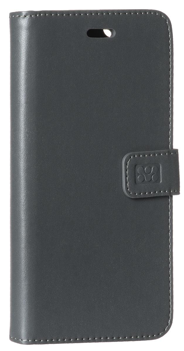 Promate Tava-i6P чехол для iPhone 6 Plus, Grey00008339Promate Tava-i6P - уникальный кожаный чехол, разработанный именно для iPhone 6 Plus. Помимо качественной защиты вашего смартфона он обладает рядом приятных дополнительных опций, таких как: подставка для просмотра информации на телефоне (в горизонтальной плоскости) и удобное внутреннее отделение для карт. Удобная магнитная защелка прекрасно защищает экран, когда телефон не используется.