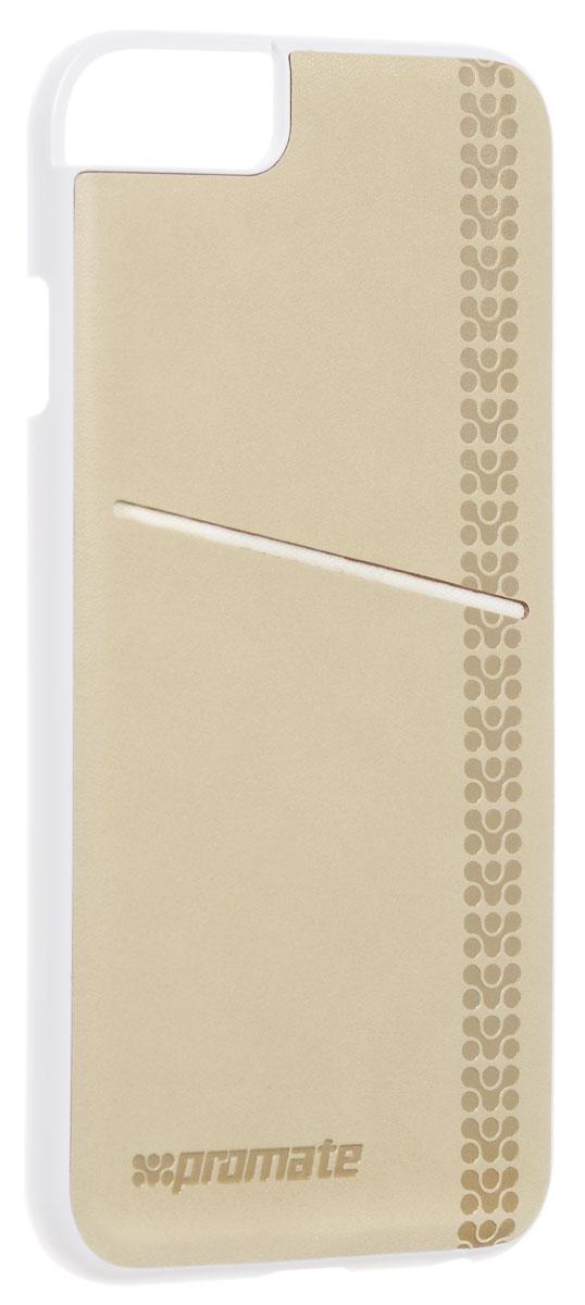 Promate Slit-i6 чехол для iPhone 6, Cream00008217Promate Slit-i6 - элегантный чехол, защищающий ваш iPhone 6 жесткой оснасткой из высококачественного поликарбоната и изумительного качества кожей. На задней поверхности этого надежного защитного чехла предусмотрен специальный карман, где можно хранить кредитные карты, визитные карты или мелкие деньги. Полный доступ ко всем кнопкам и портам телефона завершает образ идеального чехла для стильных людей.