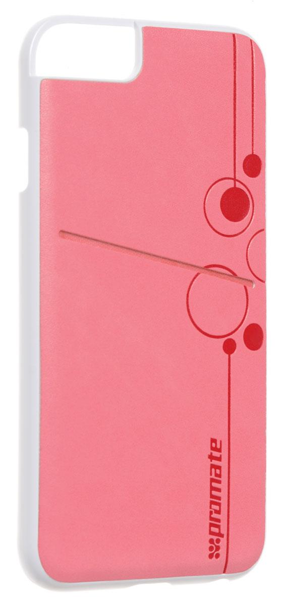 Promate Slit-i6 чехол для iPhone 6, Pink00008216Promate Slit-i6 - элегантный чехол, защищающий ваш iPhone 6 жесткой оснасткой из высококачественного поликарбоната и изумительного качества кожей. На задней поверхности этого надежного защитного чехла предусмотрен специальный карман, где можно хранить кредитные карты, визитные карты или мелкие деньги. Полный доступ ко всем кнопкам и портам телефона завершает образ идеального чехла для стильных людей.