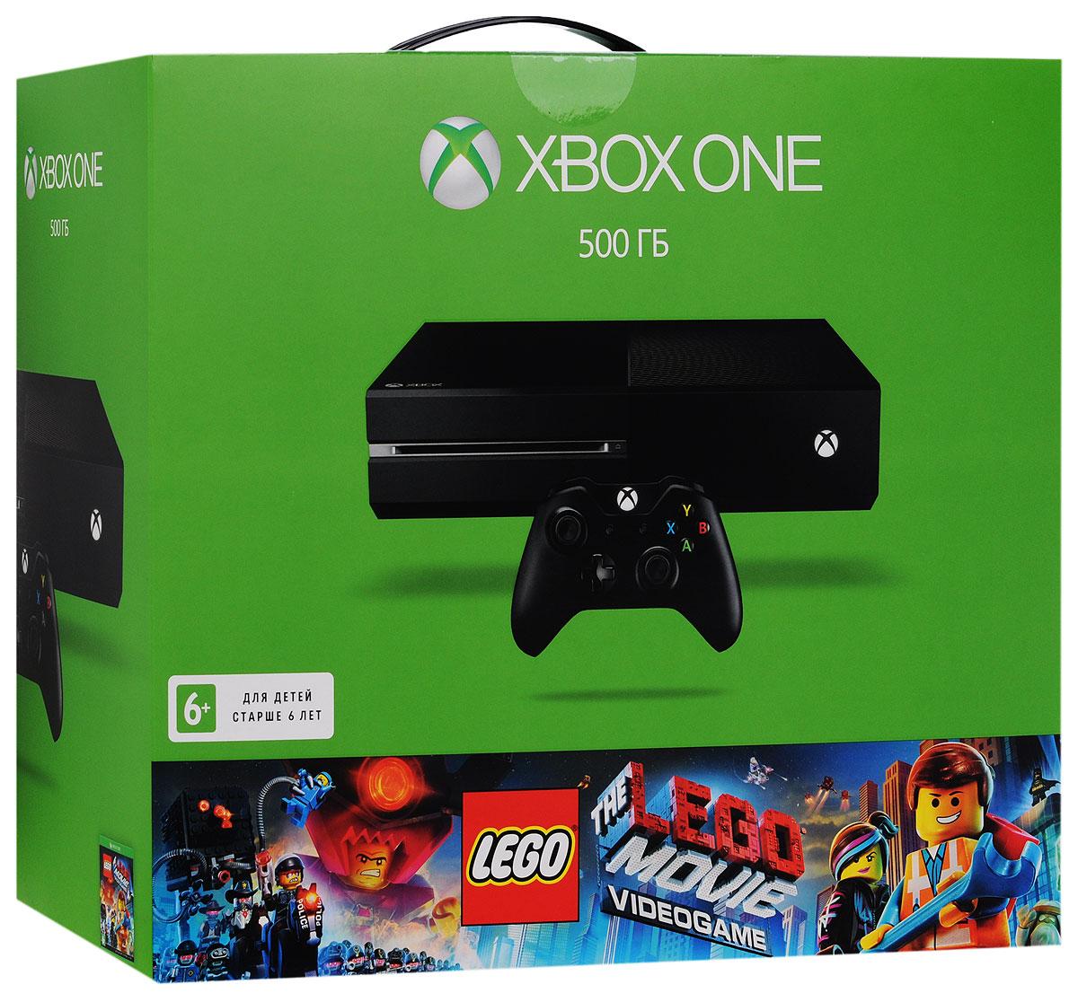 Игровая приставка Xbox One 500 ГБ + The LEGO Movie Videogame