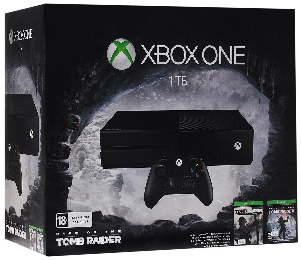 Игровая приставка Xbox One 1 TБ + Tomb Raider