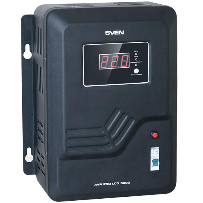 Sven AVR Pro LCD 5000 стабилизатор напряженияSV-011642Настенный стабилизатор Sven AVR Pro LCD 5000 предназначен для питания бытовых электроприборов стабилизированным напряжением в условиях отклонения напряжения однофазной электросети выше допустимого значения. Стабилизатор обеспечивает защиту питаемых электроустройств от чрезмерного отклонения сетевого напряжения и осуществляет их безопасное подключение после сбоев электроснабжения. Расширенный диапазон входного напряжения (140 – 260 В) позволяет обеспечивать электроснабжение устройств даже в условиях критического состояния энергоснабжения. Применение микропроцессора в электронной схеме стабилизатора позволило реализовать большой набор функций – отображение текущего значения входного/выходного напряжения на светодиодном индикаторе передней панели, отображение состояния стабилизатора, функция пауза с регулируемой задержкой включения, интеллектуальная защита от перегрева трансформатора, защита от повышенного/пониженного напряжения сети. Кроме перечисленного, стабилизаторы...