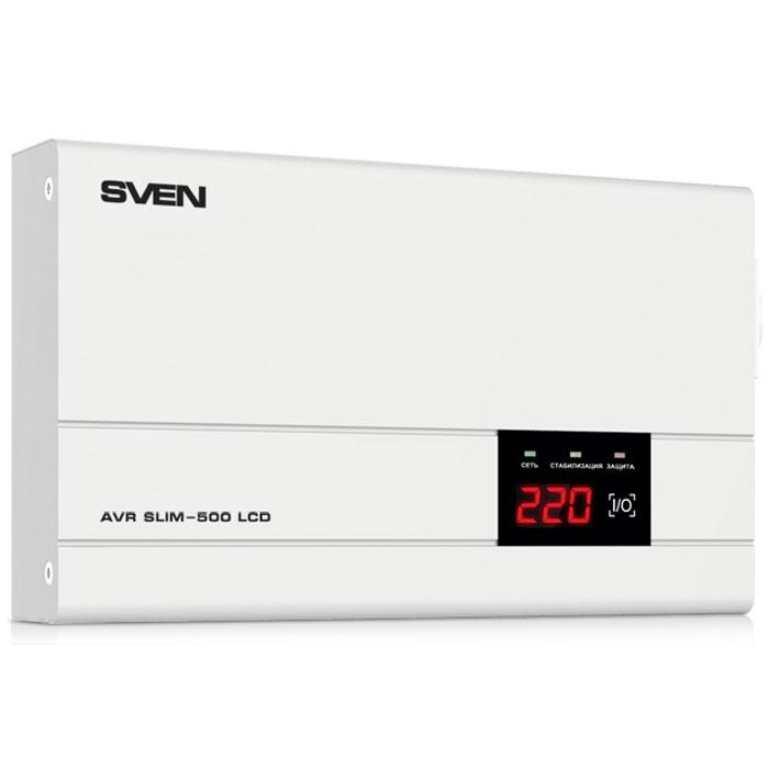 Sven AVR Slim-500 LCD стабилизатор напряжения