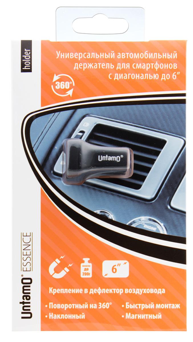 Untamo Essence автомобильный держатель для смартфонов 3,5-6UNHOLACM BLUntamo Essence - компактный и незаметный, но в тоже время необходимый и надежный, универсальный держатель для современных смартфонов в автомобиль. Специальное магнитное основание позволяет удерживать устройства весом до 200 граммов и с диагональю до 6. Легкий и неброский монтаж на дефлектор воздуховода. Особенностью аксессуара является также возможность поворота на 360 градусов вокруг своей оси, что позволяет зафиксировать телефон в наиболее удобном положении.
