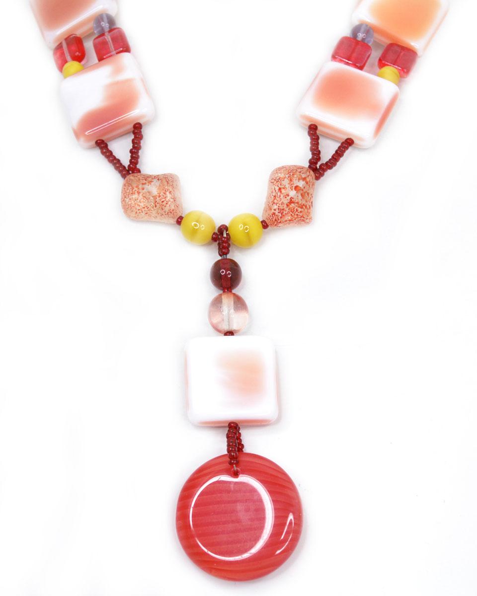 Колье Bohemia Style, цвет: розовый, коралловый. BW1218 7813 95