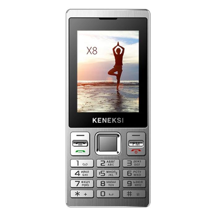 Keneksi X8, BlackX8 BlackМобильный телефон KENEKSI X8 с поддержкой 2 SIM-карт. Модель имеет ЖК-экран с диагональю 2.4 и разрешением 320х240 точек. Телефон оснащен встроенным аудиоплеером и FM радиоприемником. Телефон сертифицирован Ростест и имеет русифицированную клавиатуру, меню и Руководство пользователя.
