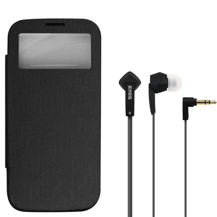 EXEQ HelpinG-SF08 чехол-аккумулятор для Samsung Galaxy S4, Black (2600 мАч, Smart cover, флип-кейс) ( HelpinG-SF08 BL )