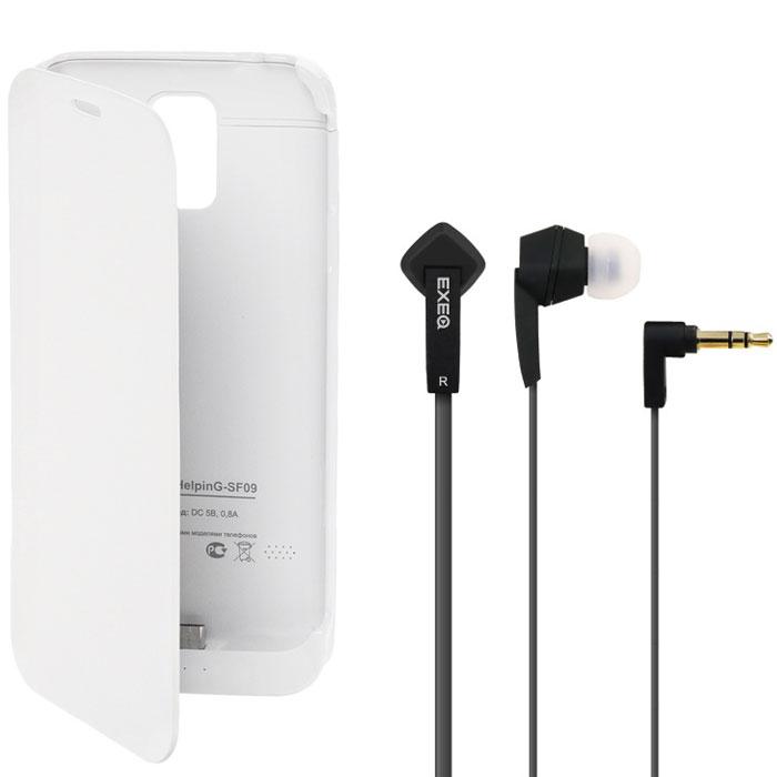 EXEQ HelpinG-SF09 чехол-аккумулятор для Samsung Galaxy S5, White (3300 мАч, флип-кейс)HelpinG-SF09 WHЧехол-аккумулятор Exeq HelpinG-SF09 - практичный аксессуар для смартфона Samsung Galaxy S5! Exeq Helping-SF09 надежно защитит телефон от внешнего воздействия - ударов, грязи, царапин, а встроенная в аксессуар батарея емкостью в 3300 мАч обеспечит подзарядку аккумулятора телефона в самые необходимые моменты. Элегантный дизайн, классические формы и качественный пластик удачно дополнят совершенный дизайн смартфона Samsung Galaxy S5, незначительно при этом увеличив его габариты и вес. В качестве приятного дополнения Exeq HelpinG-SF09 имеет откидывающуюся подставку. Специальная конструкция чехла с выдвижной верхней частью позволит удобно и надежно поместить телефон в чехол, а при необходимости легко и быстро достать телефон из чехла. Хотя извлекать телефон из надежного Exeq HelpinG-SF09 вам вряд ли понадобится - заряжать телефон можно непосредственно в чехле, подключив к нему зарядное устройство телефона и нажав кнопку питания на чехле. Если кнопку питания не...