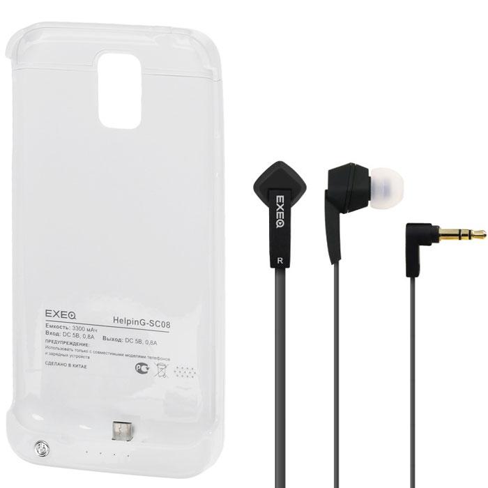 EXEQ HelpinG-SC08 чехол-аккумулятор для Samsung Galaxy S5, White (3300 мАч, клип-кейс)