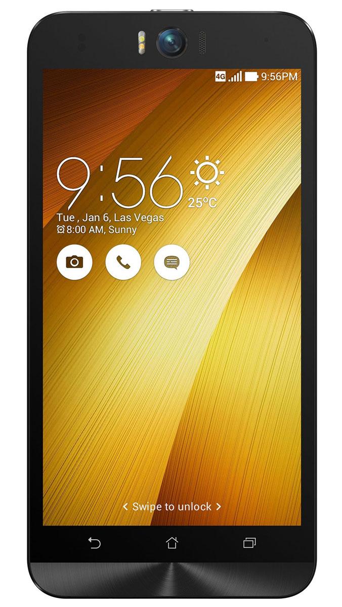 ASUS ZenFone Selfie ZD551KL (16GB), Gold (90AZ00U9-M01280)90AZ00U9-M01280Asus Zenfone Selfie ZD551KL - инновационное сочетание современных технологий, модных трендов и безупречного качества изготовления. В этом смартфоне есть все, чтобы увидеть себя в самом лучшем свете - две отличные камеры с множеством специальных режимов съемки, удобный интерфейс ZenUI и высококачественный экран. Отличительной особенностью смартфона ZenFone Selfie является высококачественная фронтальная камера с технологией PixelMaster, разрешением 13 мегапикселей, большой диафрагмой (F/2,2) и 88-градусным объективом, причем в режиме панорамных селфи она дает возможность снимать фотографии, охватывающие угол до 140 градусов. И фронтальная, и тыловая камеры смартфона оснащены двухцветной светодиодной вспышкой. В обоих применены современные компоненты от Largan и Toshiba, а в тыловой также реализована высокоскоростная система лазерной автофокусировки. Благодаря поддержке системы жестового управления ZenMotion, для перевода смартфона ZenFone Selfie в ...