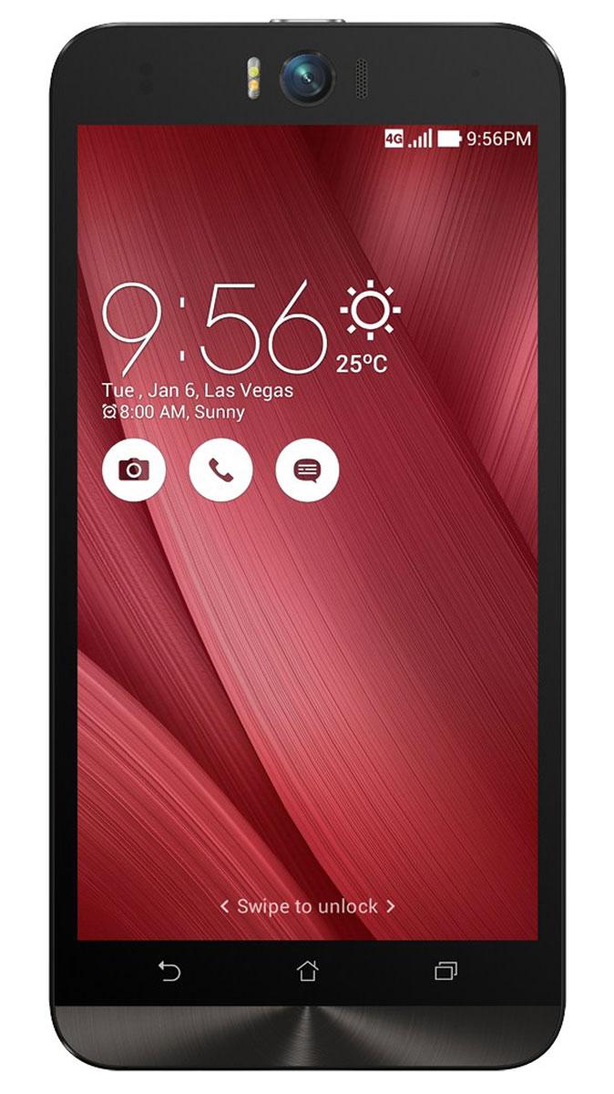 ASUS ZenFone Selfie ZD551KL (32GB), Pink (90AZ00U3-M01310)90AZ00U3-M01310Asus Zenfone Selfie ZD551KL - инновационное сочетание современных технологий, модных трендов и безупречного качества изготовления. В этом смартфоне есть все, чтобы увидеть себя в самом лучшем свете - две отличные камеры с множеством специальных режимов съемки, удобный интерфейс ZenUI и высококачественный экран. Отличительной особенностью смартфона ZenFone Selfie является высококачественная фронтальная камера с технологией PixelMaster, разрешением 13 мегапикселей, большой диафрагмой (F/2,2) и 88-градусным объективом, причем в режиме панорамных селфи она дает возможность снимать фотографии, охватывающие угол до 140 градусов. И фронтальная, и тыловая камеры смартфона оснащены двухцветной светодиодной вспышкой. В обоих применены современные компоненты от Largan и Toshiba, а в тыловой также реализована высокоскоростная система лазерной автофокусировки. Благодаря поддержке системы жестового управления ZenMotion, для перевода смартфона ZenFone Selfie в ...