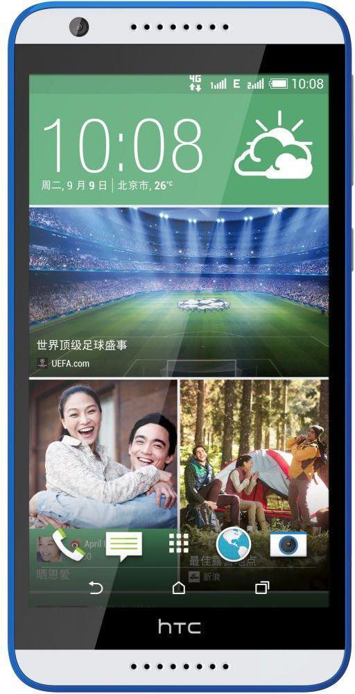 HTC Desire 820, White Blue