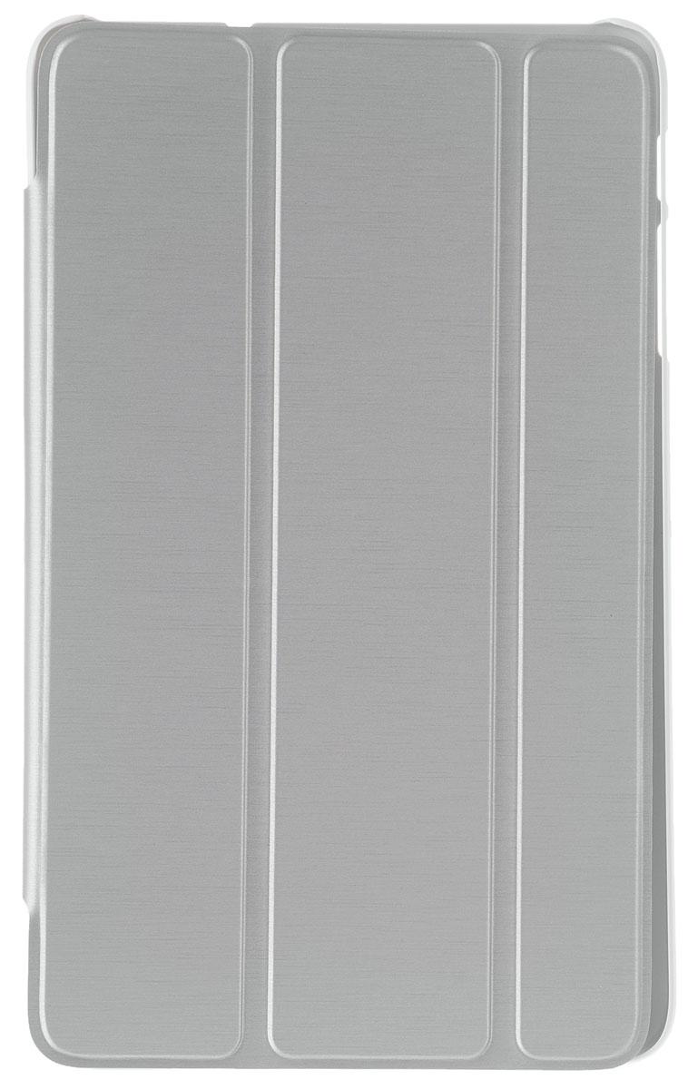 Alcatel Stand Flip Case чехол для OneTouch Pixi 8, SilverG9005-3BALSCGЧехол-книжка Alcatel Stand Flip Case обеспечивает надежную защиту корпуса планшета от механических повреждений и надолго сохраняет его привлекательный внешний вид. Обеспечивает свободный доступ ко всем разъемам и клавишам устройства.