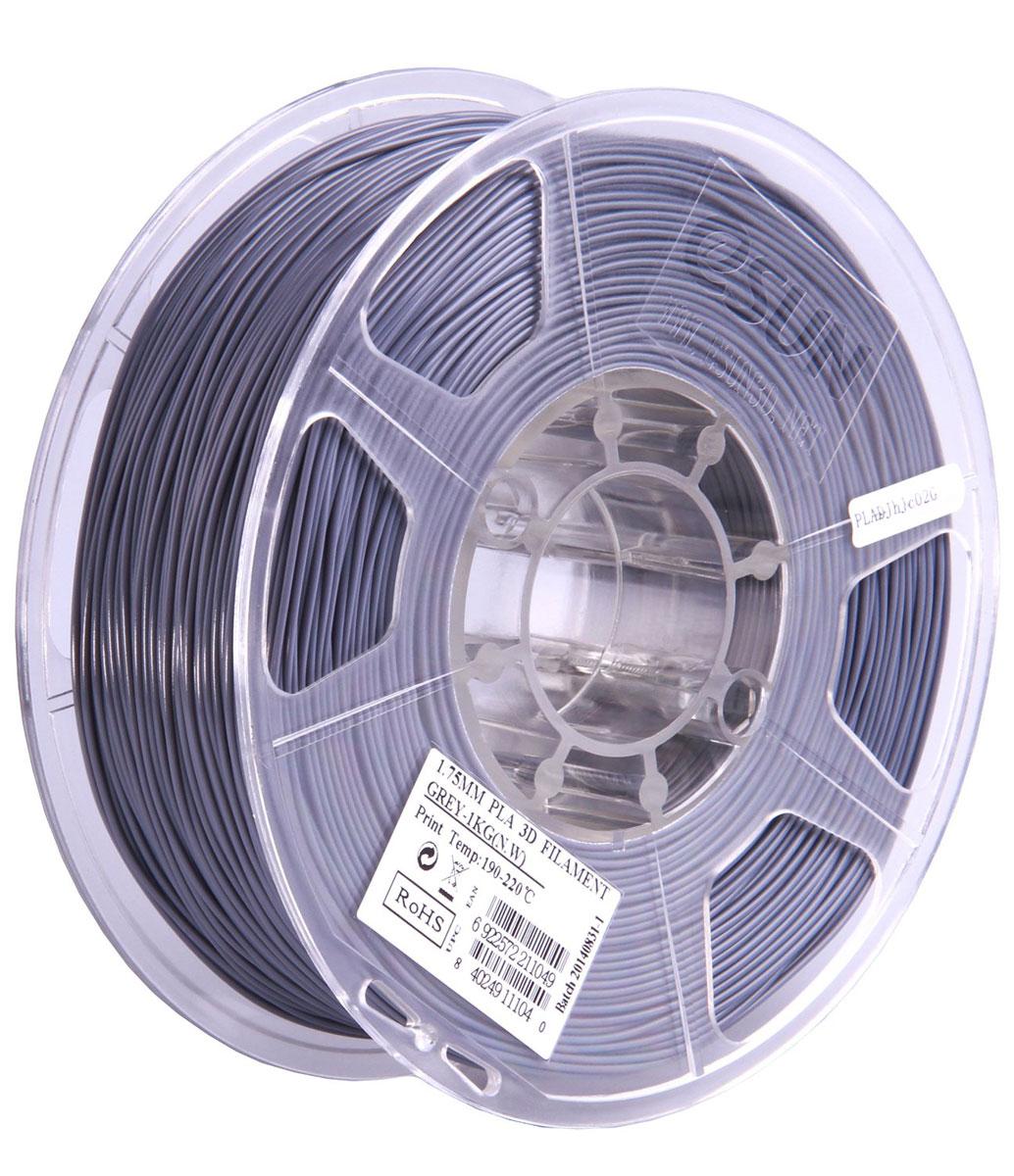 ESUN PLA-пластик в катушке, Grey (PLA175H1)PLA175H1Пластик PLA от ESUN долговечный и очень прочный полимер, ударопрочный, эластичный и стойкий к моющим средствам и щелочам. Один из лучших материалов для печати на 3D принтере. Пластик не имеет запаха и не является токсичным. Температура плавления 190-220°C. PLA пластик для 3D-принтера применяется в деталях автомобилей, канцелярских изделиях, корпусах бытовой техники, мебели, сантехники, а также в производстве игрушек, сувениров, спортивного инвентаря, деталей оружия, медицинского оборудования и прочего. Диаметр нити: 1.75 мм