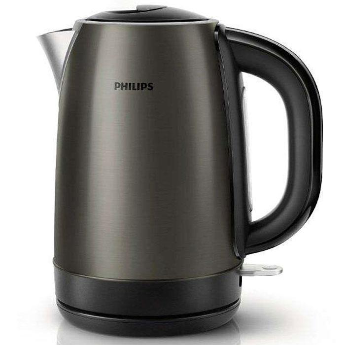 Philips HD 9323/80 электрочайникHD9323/80Стильный электрический чайник титанового цвета с корпусом из нержавеющей стали и регулятором нагрева разработан в Великобритании. Прибор безопасен в использовании и отличается долгим сроком службы. Плоский нагревательный элемент для быстрого кипячения воды и легкой чистки Встроенный нагревательный элемент из нержавеющей стали обеспечивает быстрое кипячение и простую чистку. Фильтр от накипи для чистой воды Съемный фильтр от накипи для чистой воды и чистого чайника. Удобное наполнение через носик/крышку Наполнить чайник можно через носик или открыв крышку. Катушка для удобного хранения шнура Шнур оборачивается вокруг основания, что позволяет легко разместить чайник на кухне. Когда чайник включен, загорается подсветка Элегантная подсветка кнопки включения/выключения уведомляет о процессе нагрева воды. Беспроводная подставка с поворотом на 360° для удобства использования. Понятный...